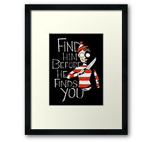Where's Waldo? Framed Print