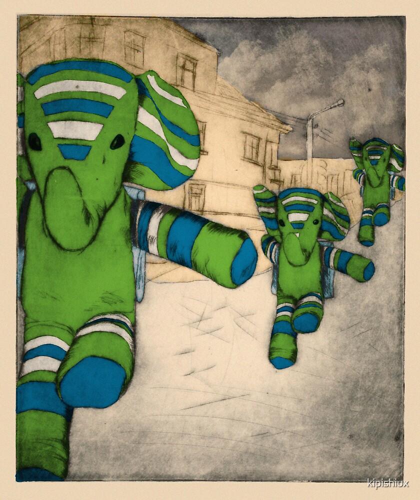 Flying Elephants IV by kipishiux