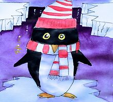 Christmas penguin by Emily King