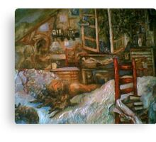 The Studio & Spirits Dream, First Detail Canvas Print