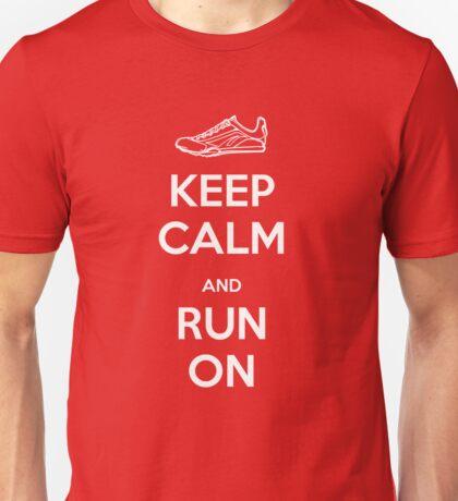 Keep Calm and Run On Unisex T-Shirt