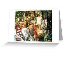 The Studio & Spirits, Second Detail Greeting Card