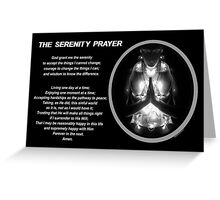 The Serenity Prayer 3 (for dark colors) Greeting Card