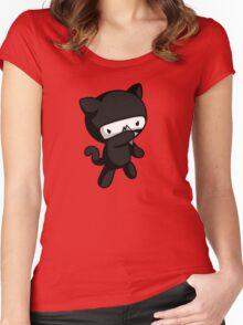 Ninja Kitty Women's Fitted Scoop T-Shirt