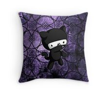 Ninja Kitty Throw Pillow