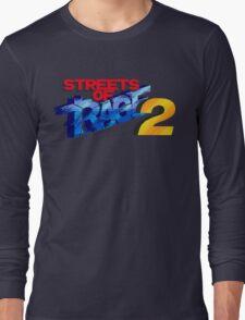 Streets of Rage 2 (Genesis) Title Screen Long Sleeve T-Shirt