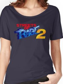 Streets of Rage 2 (Genesis) Title Screen Women's Relaxed Fit T-Shirt