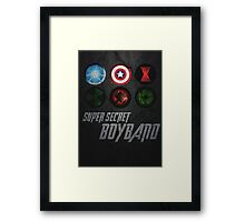 Super Secret Boyband Framed Print