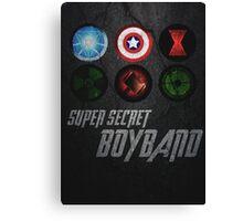 Super Secret Boyband Canvas Print