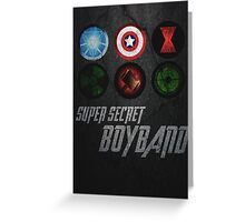 Super Secret Boyband Greeting Card