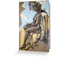 collage life drawing Greeting Card
