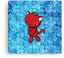 Strawberry Kitty Canvas Print