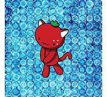 Strawberry Kitty Photographic Print