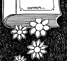 Flowers and Book Sticker