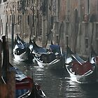 Gondolas, Venice by Abi Skeates