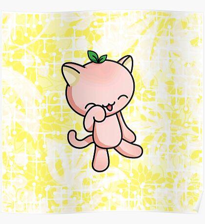 Peach Kitty Poster