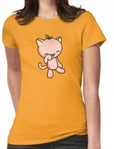 Peach Kitty Womens Fitted T-Shirt