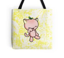 Peach Kitty Tote Bag