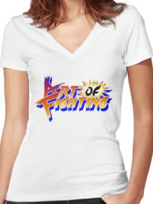 Art of Fighting (Arcade) Title Screen Women's Fitted V-Neck T-Shirt