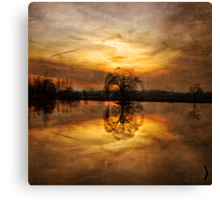 Giant Ball Of Gold Canvas Print