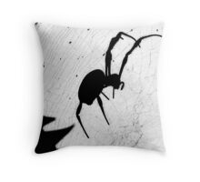 Along came a spider and.............. Throw Pillow