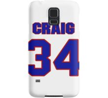 National football player Neal Craig jersey 34 Samsung Galaxy Case/Skin