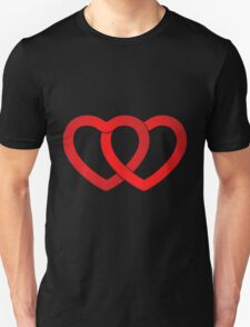 Valentine two Hearts Unisex T-Shirt