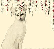 White Cat Red Mouse by Velvetwing