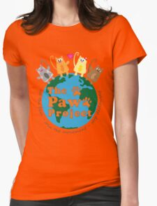 Safe World for Cats - The Paw Project Womens Fitted T-Shirt