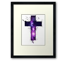 Galaxy Cross Framed Print