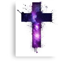 Galaxy Cross Canvas Print