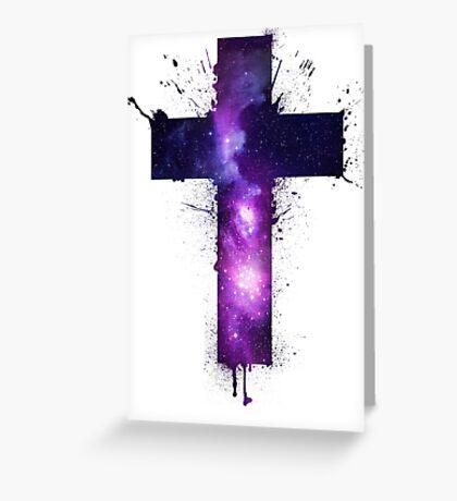 Galaxy Cross Greeting Card
