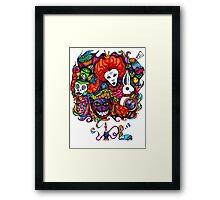 Alice & Hookah Framed Print