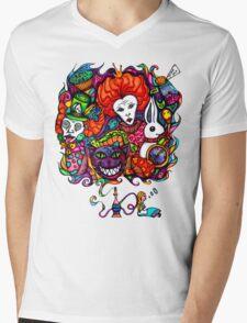 Alice & Hookah Mens V-Neck T-Shirt