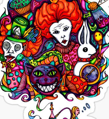 Alice & Hookah Sticker