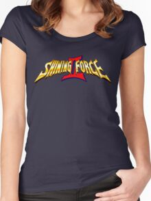 Shining Force 2 (Genesis) Title Screen Women's Fitted Scoop T-Shirt