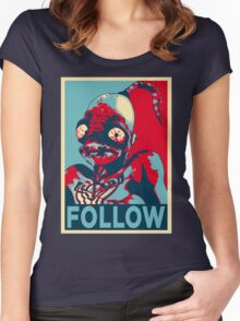 ODDWORLD ABE FOLLOW Women's Fitted Scoop T-Shirt