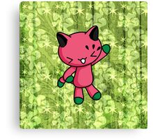 Watermelon Kitty Canvas Print