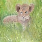 Baby Lion Cub (Resembles Prince Harry) by Monika Marciniak