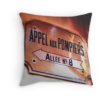 Appels Aux Pompiers Throw Pillow