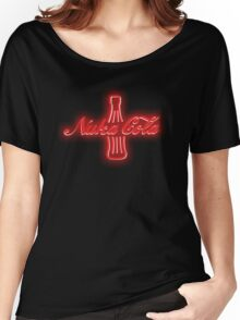 Nuka Cola Neon Sign Women's Relaxed Fit T-Shirt