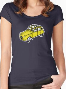 citroen 2 cv  Women's Fitted Scoop T-Shirt