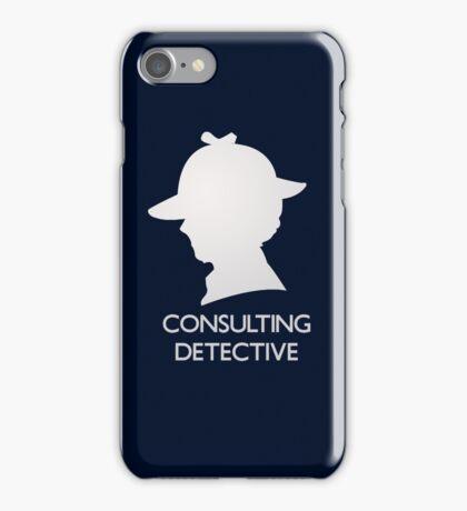 Consulting Detective Sherlock Shirt - Dark iPhone Case/Skin