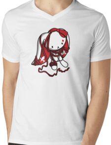 Princess of Diamonds White Rabbit Mens V-Neck T-Shirt