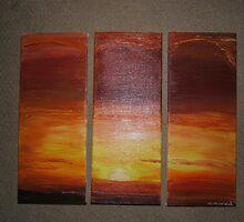 African Sunset Part II by Monika Marciniak