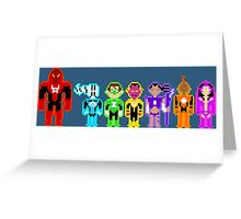 Pixel Lanterns Greeting Card