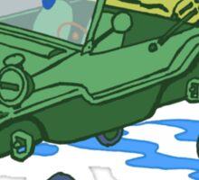 little green schwimmwagen Sticker