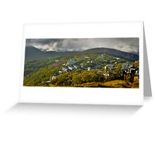 Morning in the Village, Mt Buller Greeting Card