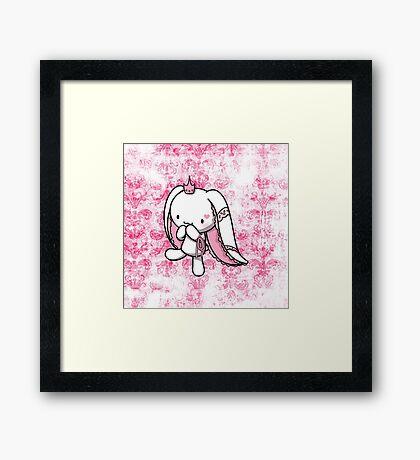 Princess of Hearts White Rabbit Framed Print