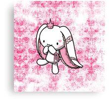 Princess of Hearts White Rabbit Canvas Print